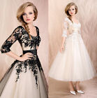Womens Evening Party Dress Lace Prom Ball Cocktail Wedding Bridal Formal Skirt