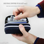 The Basic M Double Zipper Wallet Credit Business Pocket Case Key Holder Purse