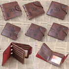 Fashion Mens Leather Bifold Clutch Wallet Credit/ID Card Holder Slim Coin Purse