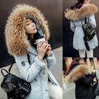 NEW Luxurious Winter Warm Women Big Real Fur Hood Coat Good Real Down Parka