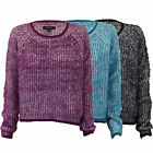 Ladies Jumpers Womens Knitted Pullover Sweater Mohair Casual Winter Amara Reya