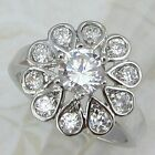 Size 6 7 8 Stylish White Flower CZ Multi Gems Jewelry Gold Filled Ring K876