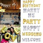 "16"" Foil Ballons Gold Silver Alphabet Letters Words Birthday Wedding Party Decor"