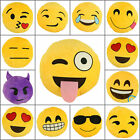 Emoji Smiley Emoticon Yellow Round Cushion Soft Pillow Stuffed Plush Toy Doll