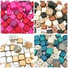 31 x 15mm Cube Wooden Spacer Bead Mix - High Quality Philippine Beads