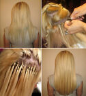 Grade AAA Easy Loop Micro Rings Beads Remy Tipped Human  Hair Extensions 100s
