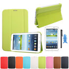 Leather Case Cover For Samsung Galaxy Tab 3 7.0 T210 T211+Film +Stylus Gayly