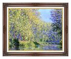 A Bend in the Epte River by Claude Monet Painting Reproduction Framed Art Print