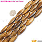"Marquise Yellow Tiger Eye Gemstone Jewelry Making Loose Beads Strand 15""10x30mm"