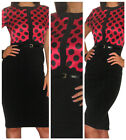 New Dress Office Work Ladies Pencil Smart Black Midi Size 10 12 14 16 18 20
