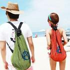 Travel Mesh Bag Backpack Pack Tote Cloth Shoes Storage Beach Lover Couple Gift