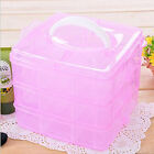 New Adjustable Plastic Storage Box Case Organizer 3 Layer 18 compartments