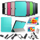 """For Samsung Galaxy Tab 4 10.1"""" SM-T530 Smart Cover Leather Case Stand+Accessory"""