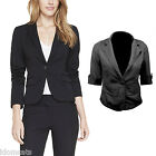 Ladies Cardigans 3/4 Sleeve Top Womens Jacket Fitted Blazer Size 10 12 8 6 14