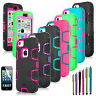 Shockproof Colorful Heavy Duty Hybrid Rugged Hard Case Cover For Apple iPhone 5C