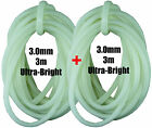 Fishing Glow/Lumo Soft Ultra Bright Tube 1.5, 2.0, 2.5 or 3.0mm 2x 3m = 6m Total