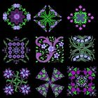 Anemone Quilt Squares 3 Machine Embroidery Designs CD-Anemone Embroidery Designs