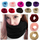 Unisex Warm Knit Circle Wool Blend Cowl Snood CHIC Scarf Shawl Wrap Charm Gift