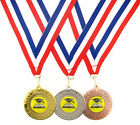 50mm Metal Quiz Wreath Medal-Gold, Silver or Bronze-FREE POST & ENGRAVING