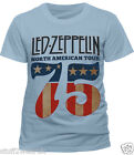 Official  Led Zeppelin US 75 T Shirt SMLXLXXL North American Tour Page Plant NEW