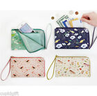 Willow Pattern Smart Wallet Mobile Purse Zip Around Card Pocket Case Holder