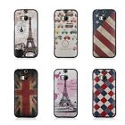 Fashion Pattern PU Leather Skin Hybrid TPU Back Case Cover For HTC One 2 M8