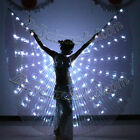 LED isis wings belly dance club glow performance light dance show AA box no rod