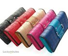 1 PC in Weave Rivets Lady Women Long Wallet Card Holder Coin Bag Purse