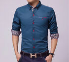Charm Men's Slim Fit Unique Design Button Long Sleeve Casual Dress Shirts CA LA