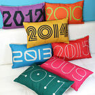 "2009 - 2015 Years Office Decor Pillow Case Cushion Cover Oblong 20""*12"" Linen"