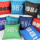 1980 - 1989 Years Sofa Decor Throw Pillow Case Cushion Cover Square 45cm Linen