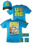 John Cena Boys Blue Throwback Kids Costume T-shirt Hat Wristbands