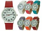 Ravel Ladies Jumbo Face Dial Coloured PU Strap Easy Read Watch xmas Gift for Her