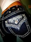 New NWT Womens Denim Jeans Miss Me Bootcut Size 25 26 27 28 29 30 31 Inseam 34