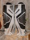 "New Tron Mega Pro senior ice hockey goalie leg pads 35"" + 1"""