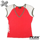 PEAK PERFORMANCE 'IVANA V-NECK' WOMENS T-SHIRT TOP VEST RED LARGE L RRP £45 BNWT