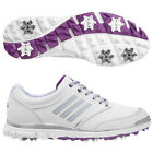 Adidas Adistar Climaproof White Blue/ Purple Leather Golf Shoes 5 - 8 + 1/2 Size