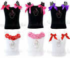 Minnie Mouse Party Hat Rhinestones Pageant Birthday Tank Top NWT 1- 10Y *U Pick*