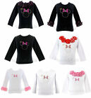 Minnie Mouse Princess Rhinestones Pageant Birthday Long Sleeve NWT 1-10Y *U Pick