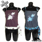 TRESPASS 'OCEANIQUE' WOMENS STRAPPY TOP SHIRT SMALL MEDIUM UK 10 8 BNWT NEW