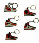 Air Jordan 1 I 23 KEYCHAINS Black Red Retro Sneakers Classic Chicago Bulls LOTs