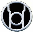 """3.5"""" Red Lantern Corps Classic Style Embroidered Patch:White Thread Black Fabric"""