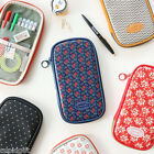 Iconic Pattern Pencil Case Pouch Cosmetic Makeup Holder Passport Organizer Bag
