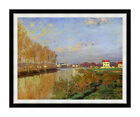 Claude Monet The Seine at Argenteuil Vanilla Sky Framed Art Repro Canvas Print
