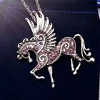 Handmade Fashion Horse Pendant Necklace 6 Color Pegasus Lady Party Sweater Chain