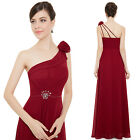 Ever Pretty One Shoulder Red Flower Dress Bridesmaid Party Prom Dresses 08496