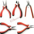 Mini Red&black Handle Small Pliers Fit Jewelry Making Tools Handmade Handcrafts