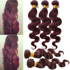 TOP BODY WAVE 99J# 100% BRAZIIAN  HUMAN HAIR EXTENSIONS GRADE 6A Lady Ombre Hair
