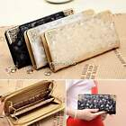 Women Card Holder Long Purse Clutch Leather Bling Wallet Evening Party Case Bag