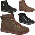 New FIRETRAP LUCA Mens Fashion Ankle Boots Leather Look Winter Hiking Lace up UK